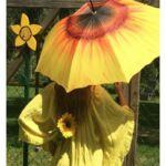 Napraforgó - UV szűrős - automata hosszúnyelű esernyő / napernyő - von Lilienfeld