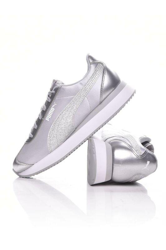 Puma Női Utcai cipő, világosszürke Turino Stacked Glitter, 371944_____0003