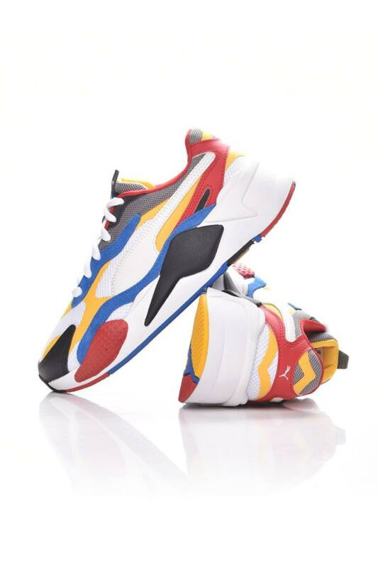 Puma Kamasz fiú Utcai cipő, Fehér RS-X  Puzzle Jr., 372357_____0004
