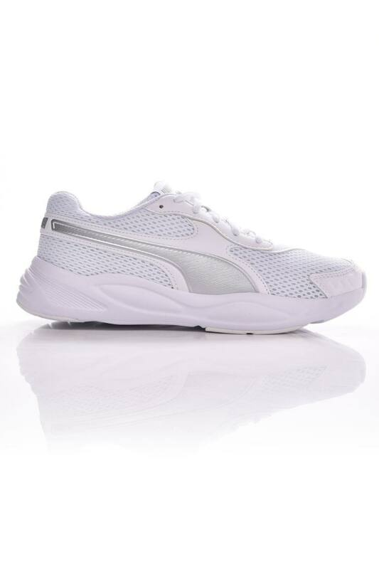 Puma Kamasz fiú Utcai cipő, Fehér 90s Runner Mesh Jr., 372926_____0001
