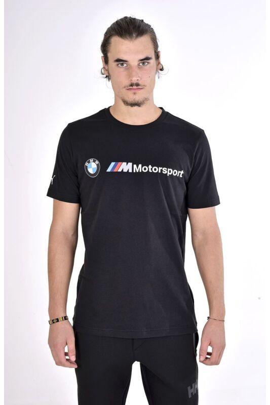 Puma Férfi Rövid ujjú T Shirt, Fekete BMW MMS Logo Tee, 595369_____0001