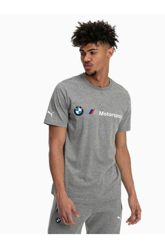 Puma Férfi Rövid ujjú T Shirt, Szürke BMW MMS LOGO TEE, 595369_____0003