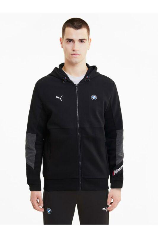 Puma Férfi Utcai kabát, Fekete BMW MMS Hooded Sweat Jacket, 598001_____0001