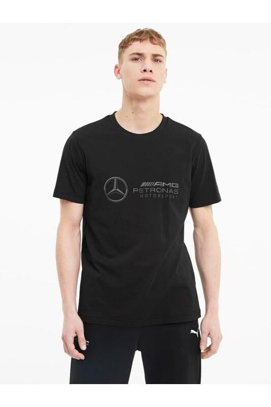 Puma Férfi Rövid ujjú T Shirt, Fekete MAPM Logo Tee, 598042_____0001