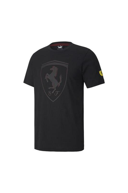 Puma Férfi Rövid ujjú T Shirt, Fekete Ferrari Race Big Shield Tee c, 598545_____0002