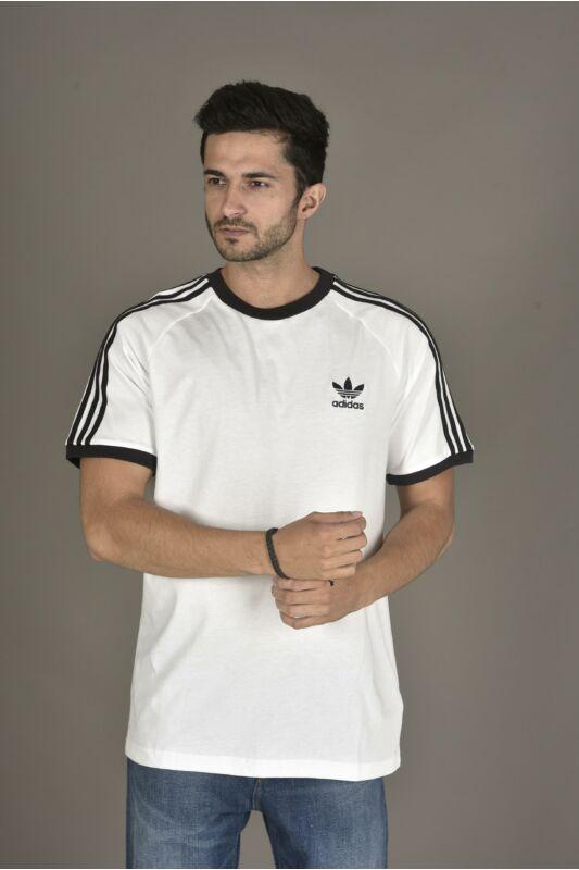Adidas ORIGINALS Férfi Rövid ujjú T Shirt, Fehér 3-STRIPES TEE, CW1203