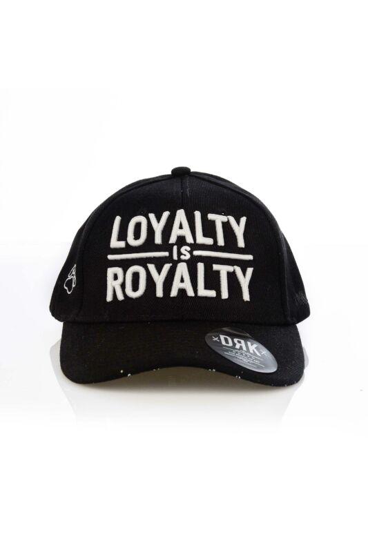 Dorko Unisex Baseball sapka, Fekete DRK x LOYALTY IS ROYALTY BASEBALL CAP, DALOY1_____0001