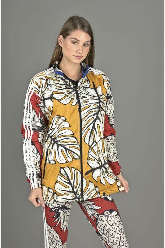 Adidas ORIGINALS Női Végigzippes pulóver, Sárga WINDBREAKER, DH3050
