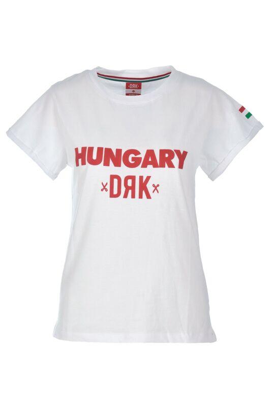 Dorko Női Rövid ujjú T Shirt, Fehér HUNGARY T-SHIRT WHITE, DHUNRIAW1__0100