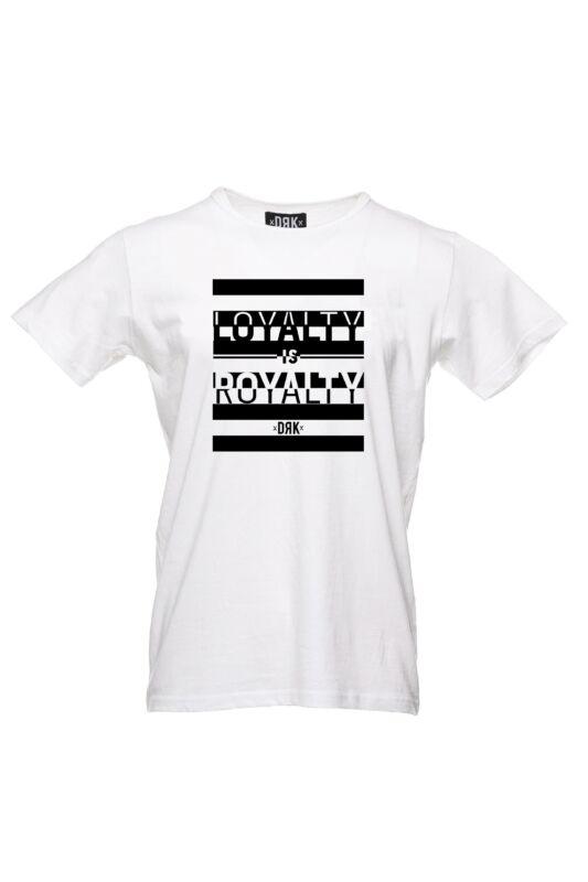 Dorko Férfi Rövid ujjú T Shirt, Fehér DRK x LOYALTY IS ROYALTY T-SHIRT MEN, DT19LOYM___0100