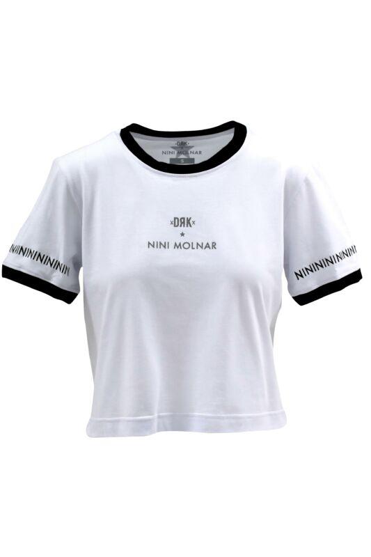 Dorko Női Rövid ujjú T Shirt, Fehér DRK x MOLNÁR NINI CROP TOP Women, DT19NINICT_0100
