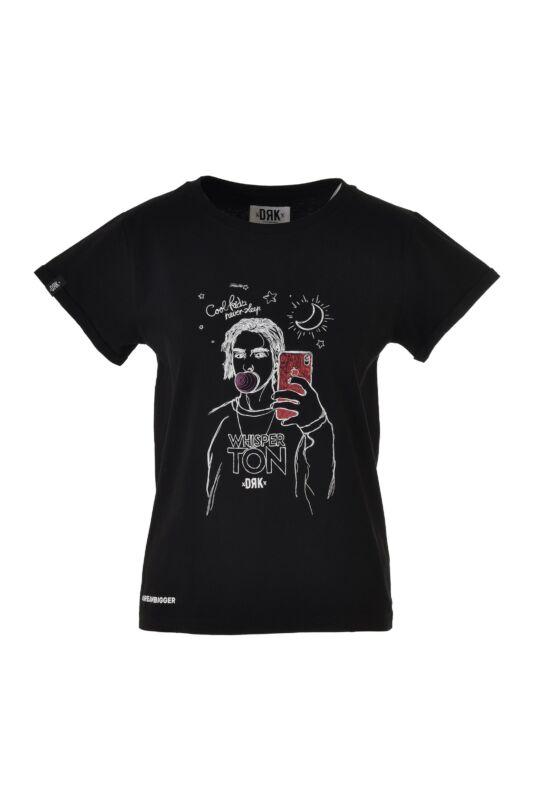 Dorko Női Rövid ujjú T Shirt, Fekete WHISPERTON T-SHIRT WOMEN, DT19WHISW__0001