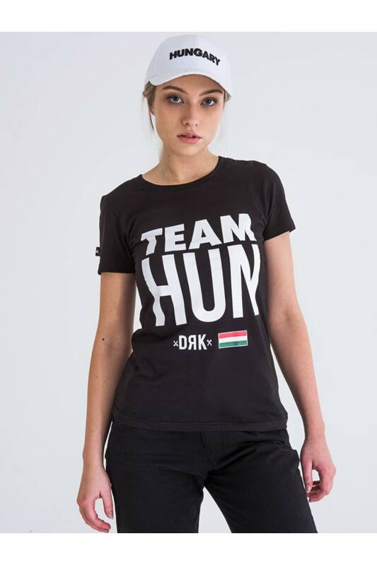 Dorko Női Rövid ujjú T Shirt, Fekete TEAM HUN T-SHIRT WOMEN, DT2027W____0001