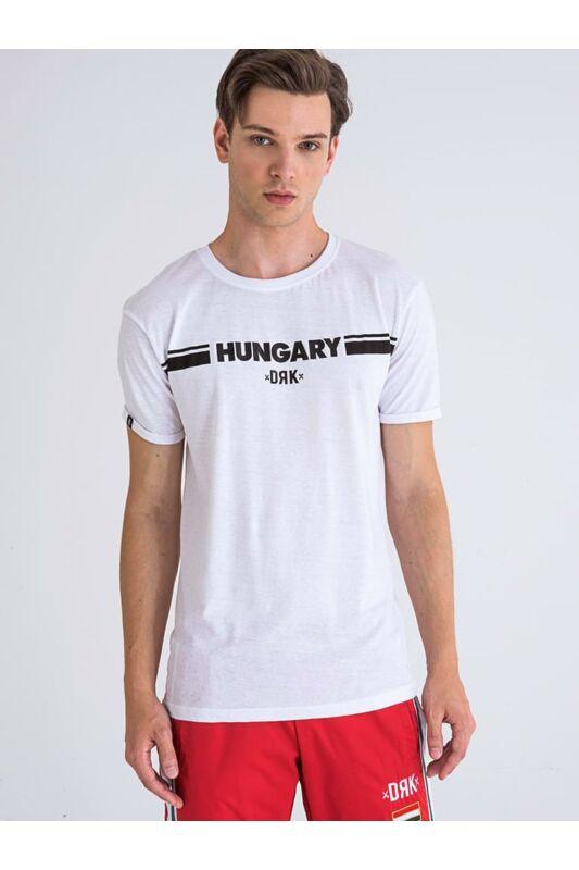 Dorko Férfi Rövid ujjú T Shirt, Fehér HUNGARY PRINTED T-SHIRT MEN, DT2044M____0100