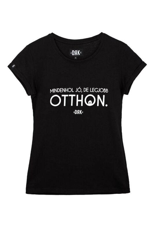 Dorko Női Rövid ujjú T Shirt, Fekete LEGJOBB OTTHON T-SHIRT WOMEN, DT20LOK19W_0001