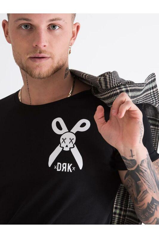 Dorko Férfi Rövid ujjú T Shirt, Fekete SKULL T-SHIRT, DT2126M____0001