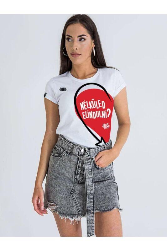 Dorko Női Rövid ujjú T Shirt, Fehér DRK x HALOTT PÉNZ VALENTINE T-SHIRT WOME, DT21HP01W__0100