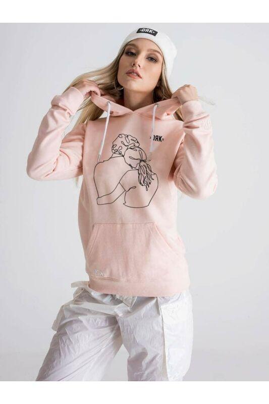 Dorko Női Kapucnis pulóver, Rózsaszín PÁROS HOODIE: ÉN TÉGEDET, DT21VN01W__0800
