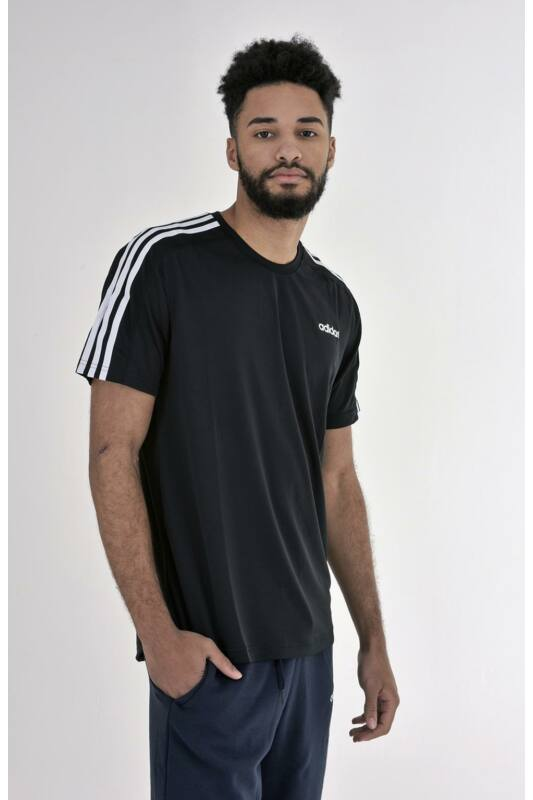 Adidas PERFORMANCE Férfi Rövid ujjú T Shirt, Fekete D2M Tee 3S, DT3043