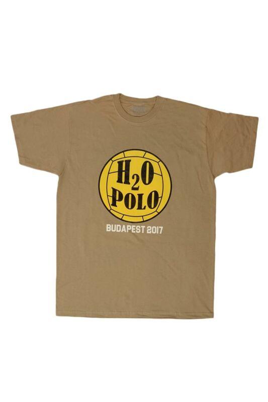 Dorko Unisex Rövid ujjú T Shirt, Khaki WATERPOLO WORLD CHAMPIONSHIP T-SHIRT, DTVIZ17U1000350
