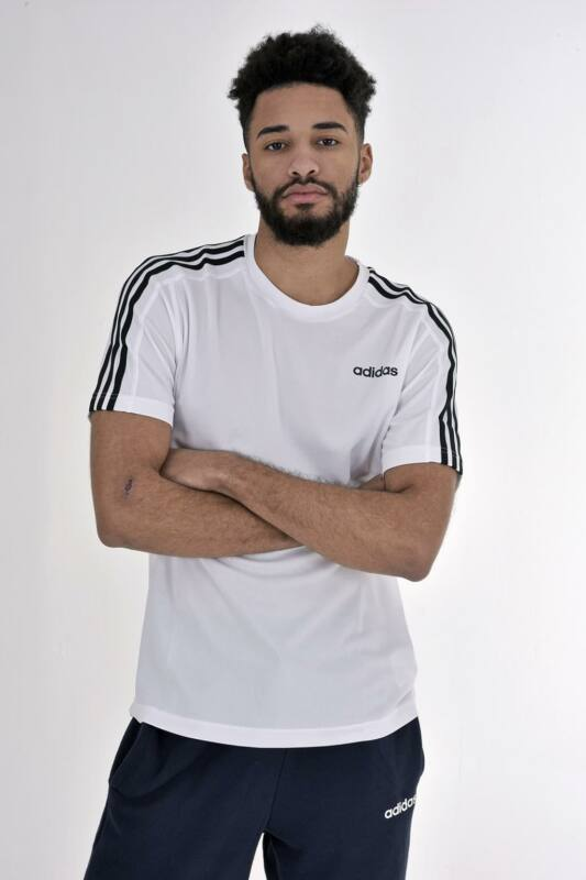 Adidas PERFORMANCE Férfi Rövid ujjú T Shirt, Fehér D2M Tee 3S, DU1242
