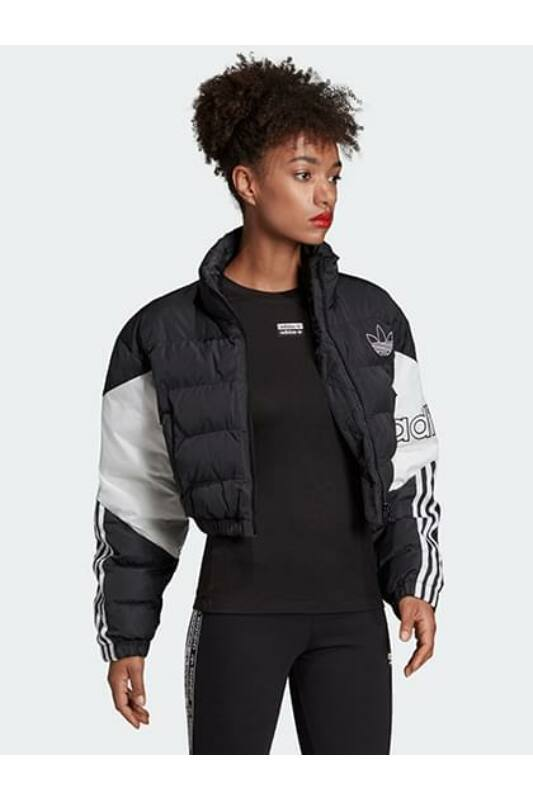 Adidas ORIGINALS Női Utcai kabát, Fekete CROPPED PUFFER, ED7598