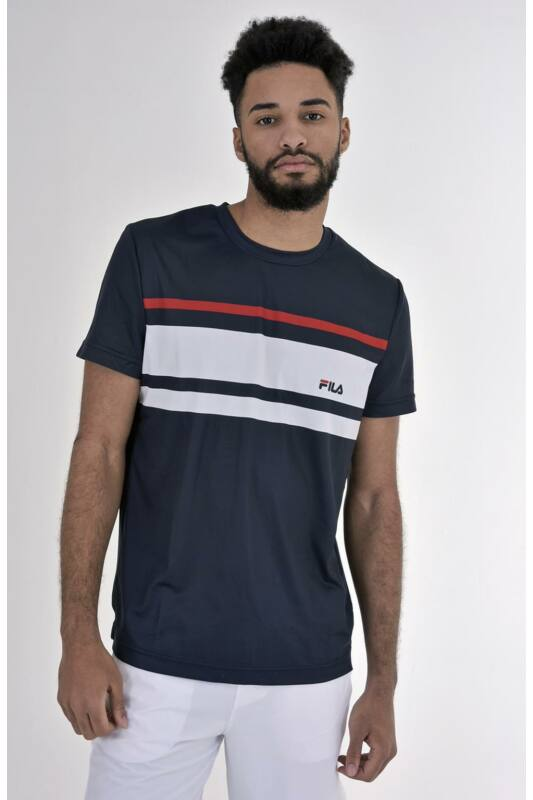 Fila Férfi Rövid ujjú T Shirt, Kék T-Shirt Trey, FBM191011__0102