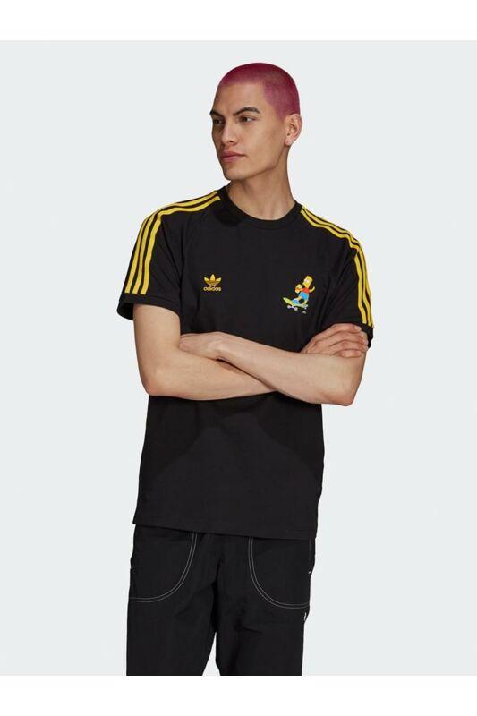 Adidas ORIGINALS Női Rövid ujjú T Shirt, Fekete SMPS SQSH TEE, HA5815