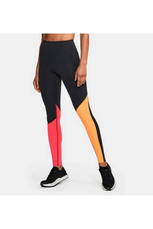Under Armour Női Leggings-fitness/futás, Fekete Mirror breathelux asymhirise, 1300227-002-MD