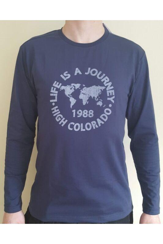High Colorado Férfi Hosszú ujjú póló, Kék Wallis 3-m, 2018682-5003-M