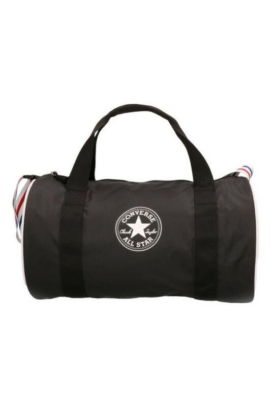 Converse Unisex Utazótáska - sport, Fekete Coated retro duffel bag, 60CDB75-001-U