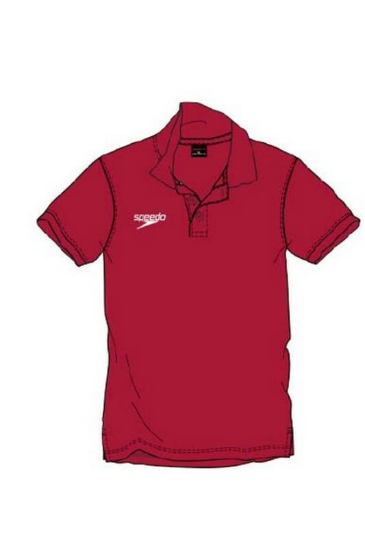Speedo Unisex Póló, Piros Polo shirt(uk), 8-10431A846-S