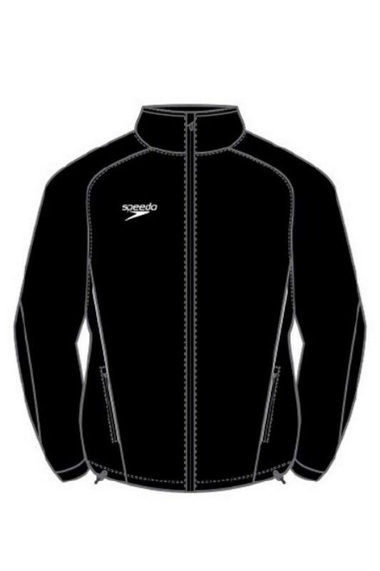 Speedo Unisex Kabát, dzseki, Fekete Rain jacket(uk), 8-104320001-M