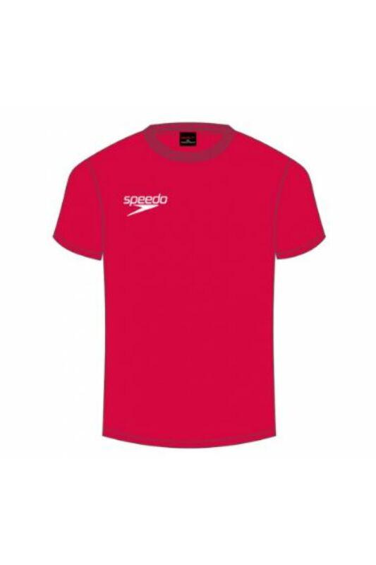 Speedo Unisex Póló, Piros Small logo t-shirt(uk), 8-10433A846-M