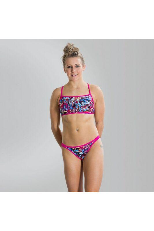 Speedo Női Fürdőruha, Rózsaszín Flip rev 2pce tf pink/blue(uk), 8-11339C275-26