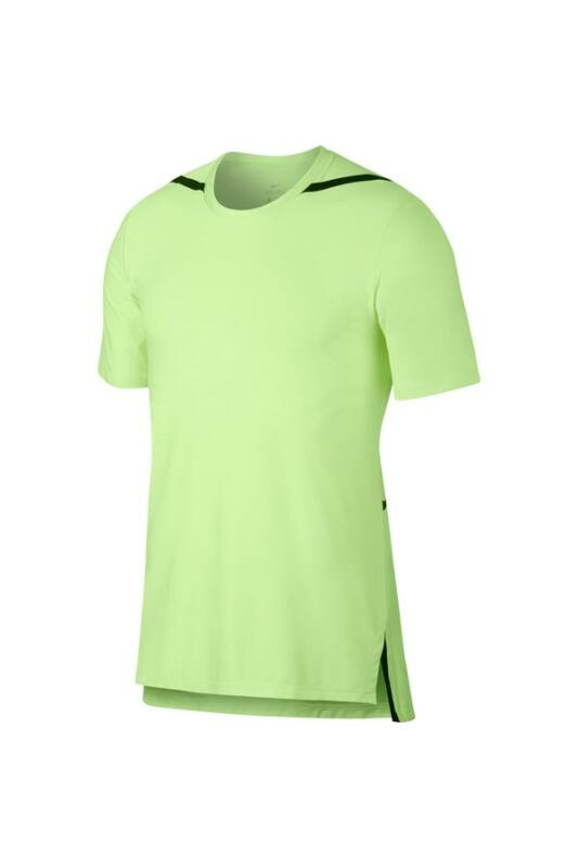 Nike Férfi Póló, Zöld M nk dry top ss tech pack, AJ7963-701-M