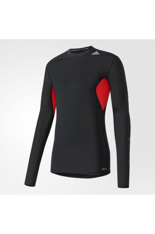 Adidas Férfi Aláöltözet, Fekete Tf recovery ls, AY9085-M