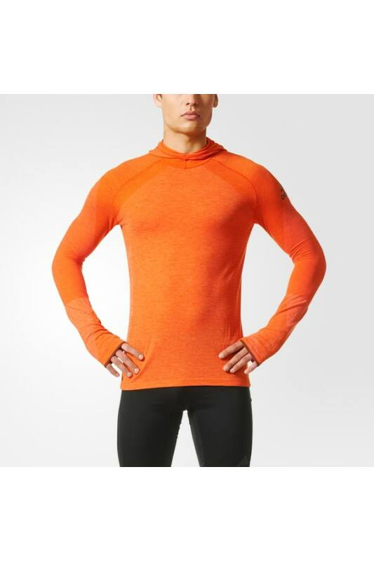 Adidas Férfi Hosszú ujjú póló, Narancssárga Clmht ls hood m, BQ4766-L