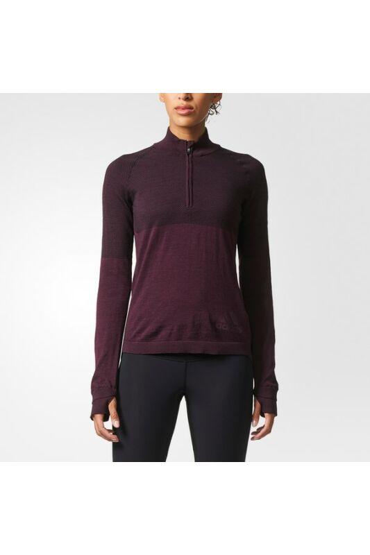 Adidas Női Hosszú ujjú póló, Piros Clmht pk zip w, BQ9348-S