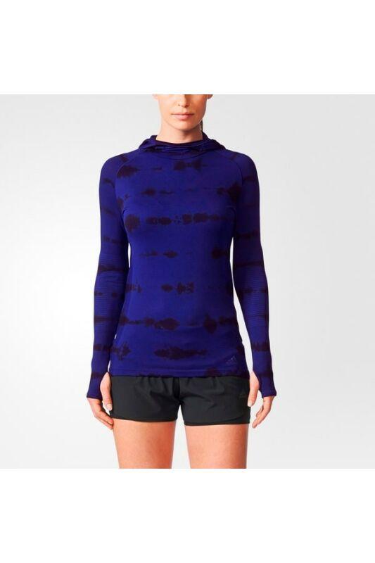 Adidas Női Hosszú ujjú póló, Kék Pknit ls ef w, BQ9392-S