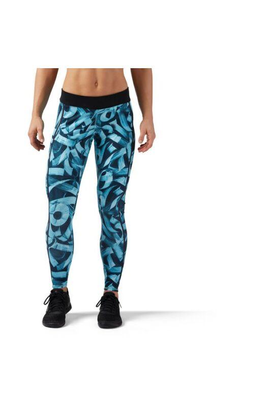 Reebok Női Leggings-fitness/futás, Türkizkék Rc tight, CD5774-S