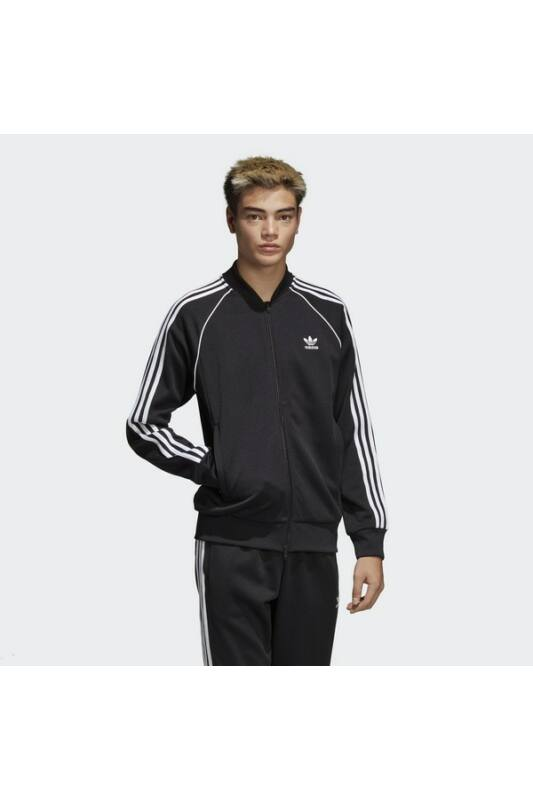 Adidas Férfi Zip pulóver, Fekete Sst tt, CW1256-S