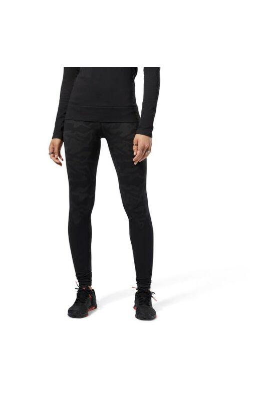 Reebok Női Leggings-fitness/futás, Fekete Os thermo seamless, CY3310-M