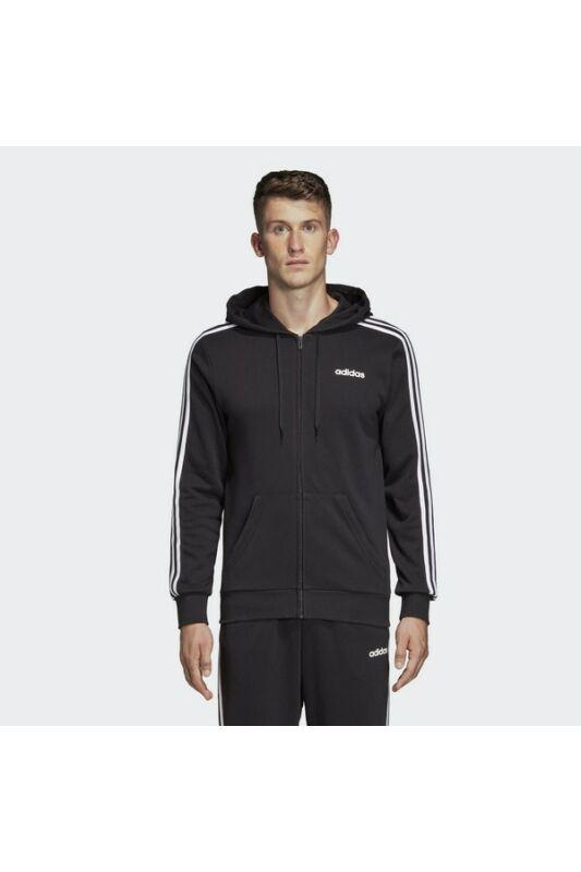 Adidas Férfi Zip pulóver, Fekete Essentials 3 stripes fullzip french terry, DQ3102-S