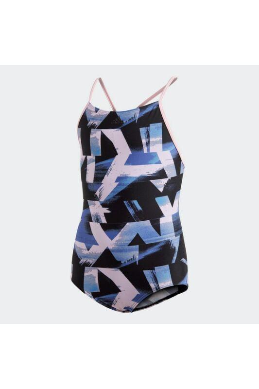Adidas Gyerek Úszódressz, Fekete Ya aop suit, DQ3374-128