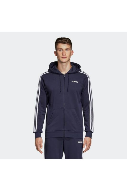 Adidas Férfi Zip pulóver, Kék E 3s fz ft, DU0471-M