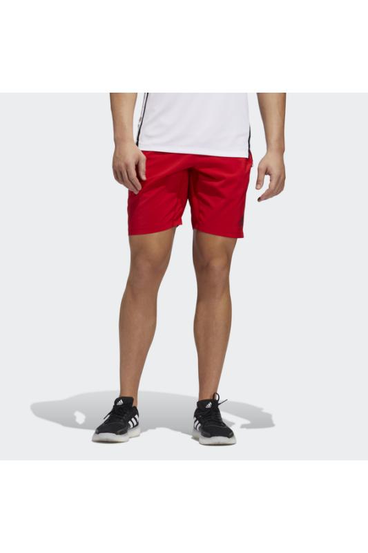 Adidas Férfi Short, Piros 4krft 3stripe+ woven 9-inch short, GC8426-M