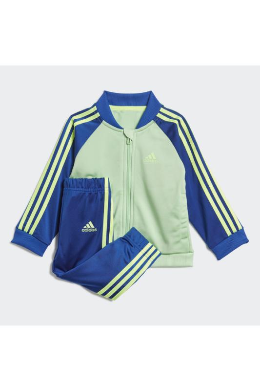 Adidas Bébi Melegítő, Zöld Infant 3 stripes tracksuit tricot, GD6174-92