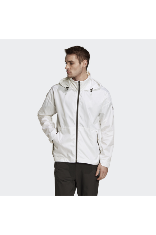 Adidas Férfi Kabát, dzseki, Fehér Urban wind.rdy, GE2082-L
