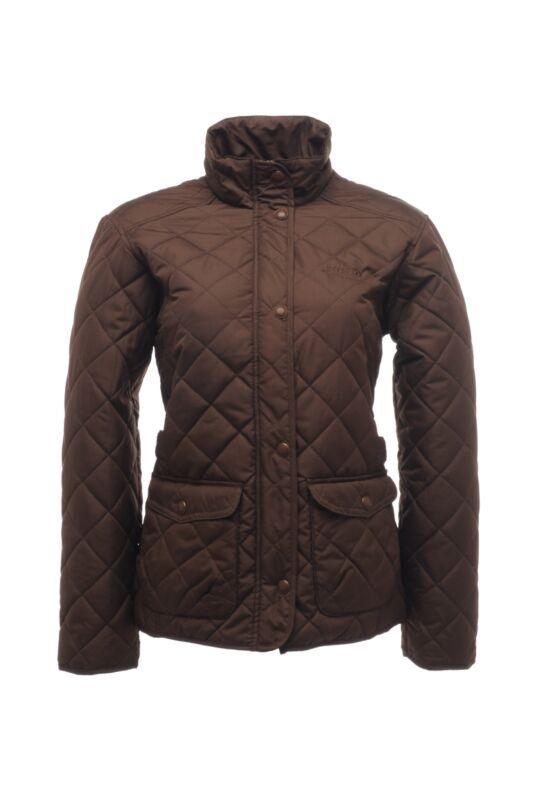 Regatta Női Kabát, dzseki, Barna Női steppelt kabát, RWN011-86X-36
